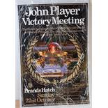 A John Player Victory Meeting double royal sided World Championship Victory meeting Brands Hatch