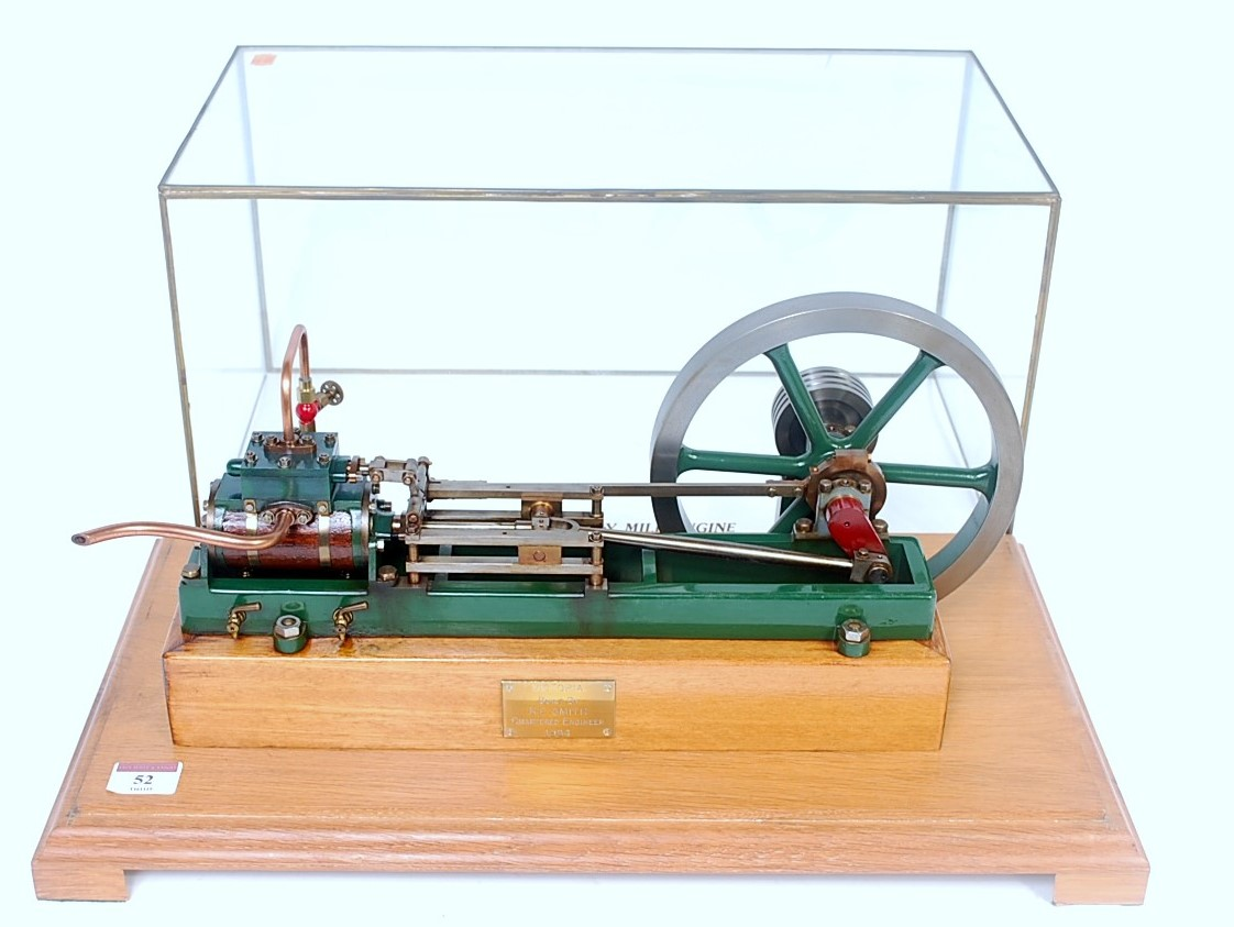 Lot 52 - A very well made Stuart Turner Victoria live steam mill engine, comprising of single cylinder with