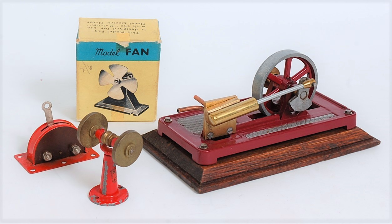 Lot 38 - A collection of various live steam engines and components to include a miniature live steam single