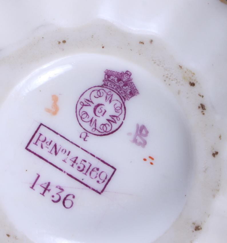 Lot 35 - A mid Victorian Royal Worcester blush ivory porcelain jug, shape number 1436, with gilt