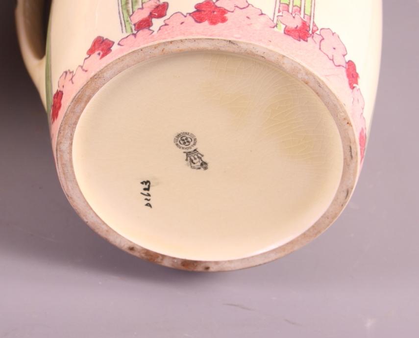 "Lot 46 - A Royal Doulton Art Nouveau designed toilet jug and basin (rim chipped to basin), jug 2"" high"