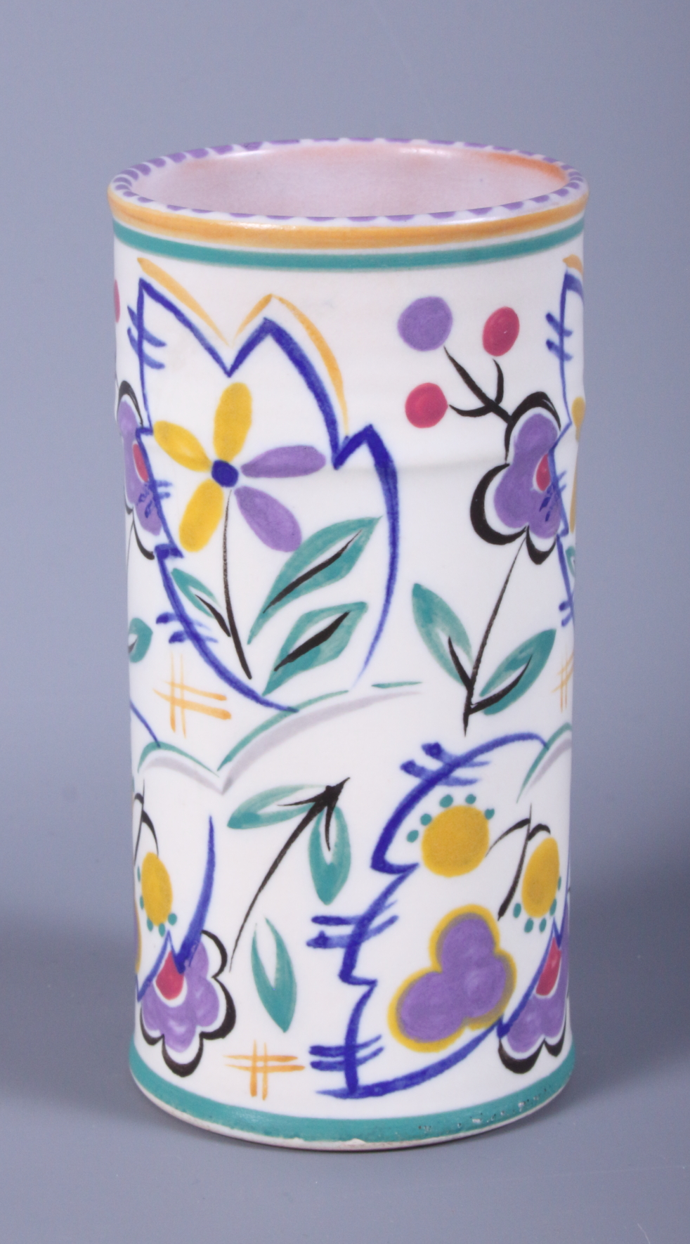 Lot 12 - An early 20th century Poole Pottery spill vase, shape number 201, bearing artists mark KS and