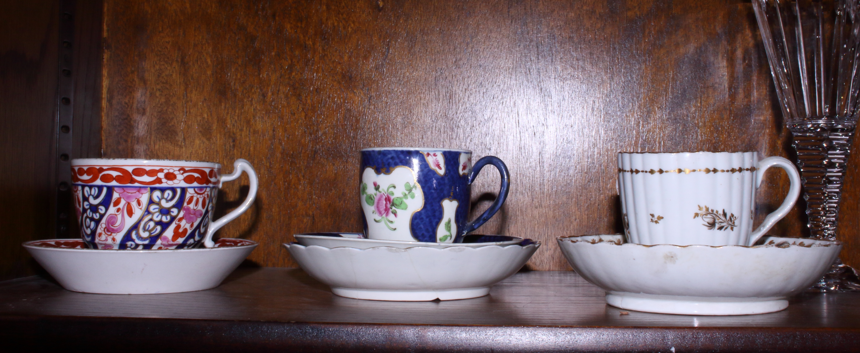 Lot 13 - A 19th century Barr Flight Barr 'Queen Charlotte' pattern cup and saucer, a Worcester First Period