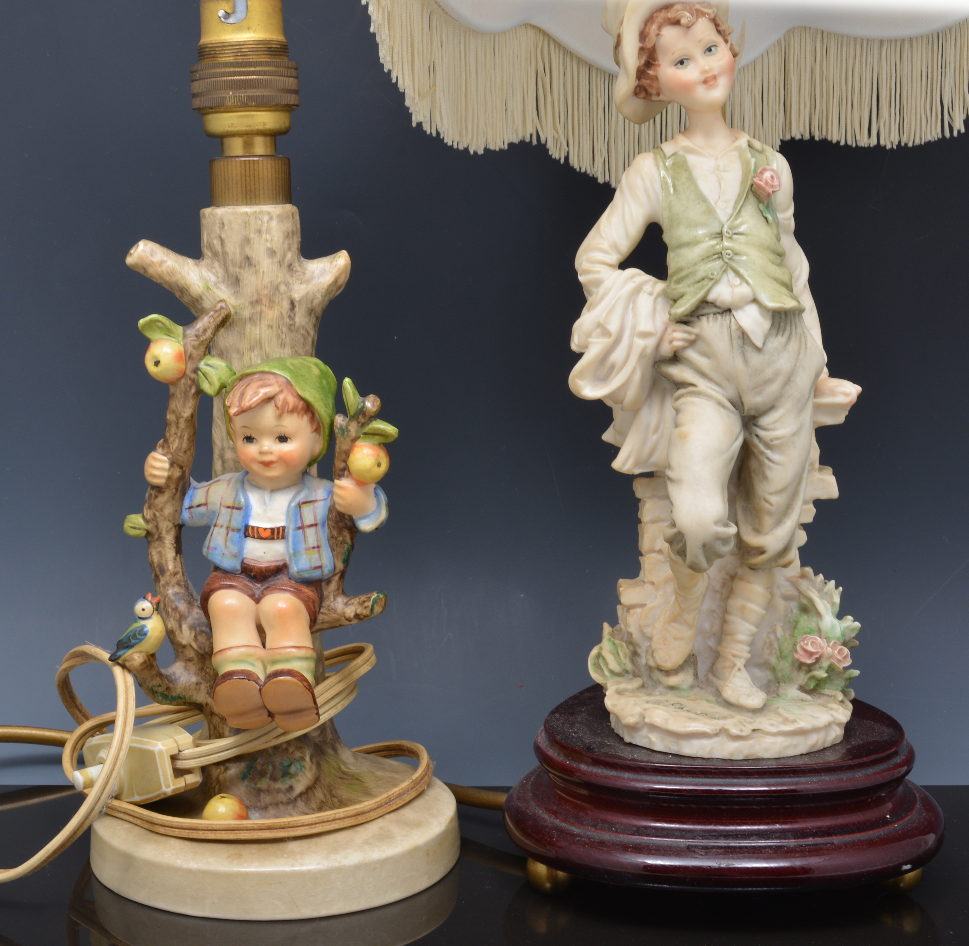 Lot 25   Hummel Table Lamp, Apple Tree Boy, 20cm And Three Other Table