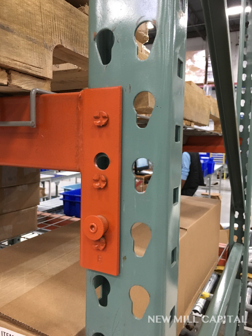 Lot 12 - Interlake Teardrop Pallet Rack, (12) Uprights (3in x 1.625in Columns, 42i | Rig: See Lot Description