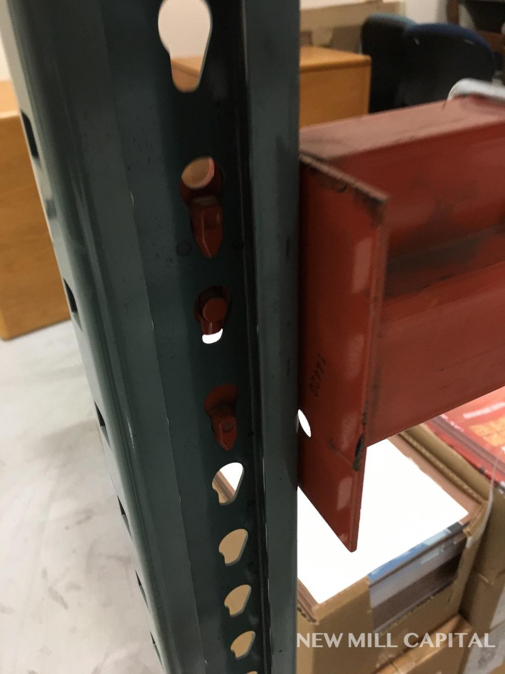 Lot 31 - Interlake Teardrop Pallet Rack, (8) Uprights (3in x 1.625in Columns, 42in | Rig: See Lot Description