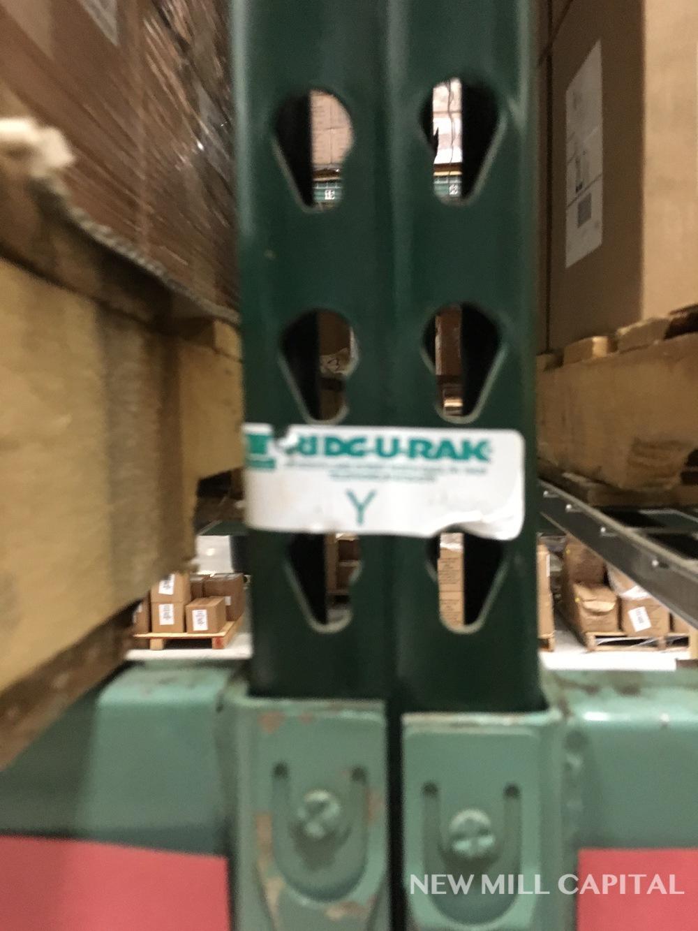 Lot 20 - Ridg-U-Rak Teardrop Pallet Racking, (32) Uprights (3in x 2.25in Columns, | Rig: See Lot Description