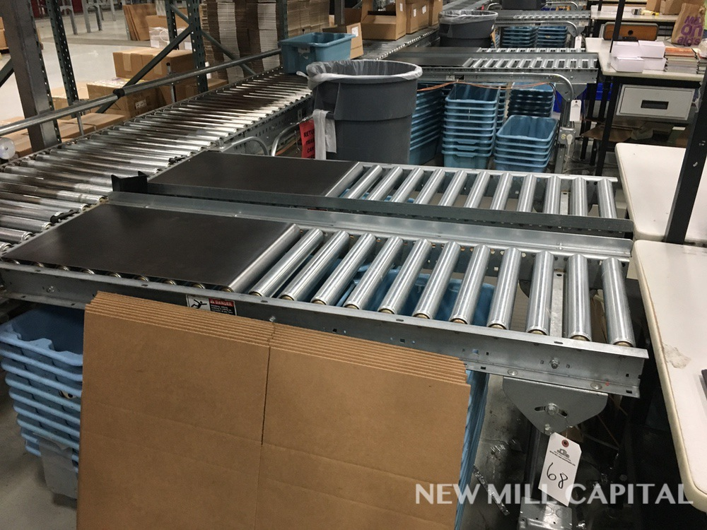 Lot 68 - (2) Roller Conveyors, Manual, Approx 5ft OA Length, 15in Rollers, 18in OA Width | Rig Fee: $150
