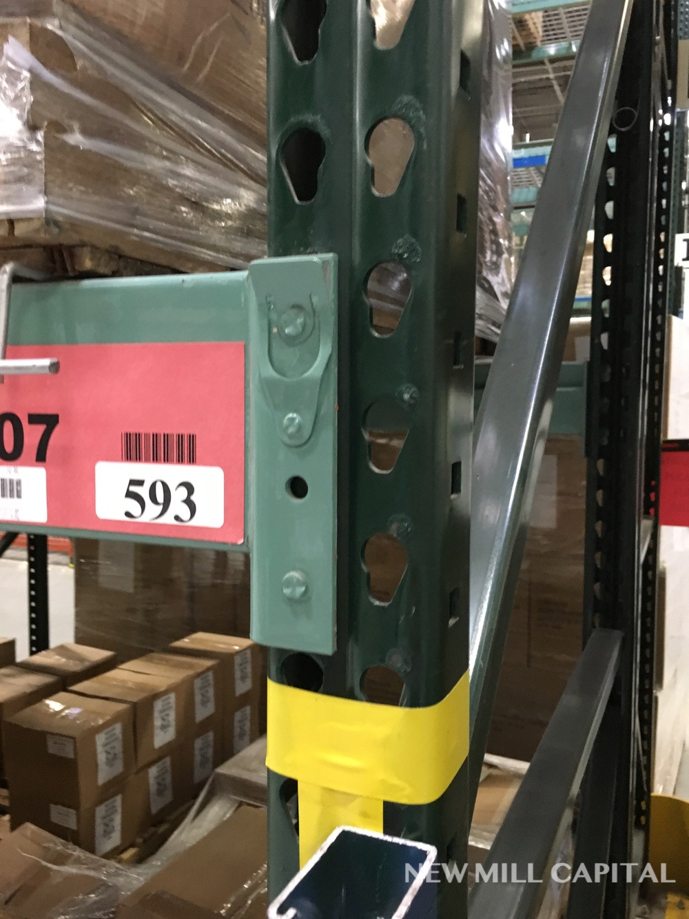 Lot 19 - Ridg-U-Rak Teardrop Pallet Racking, (32) Uprights (3in x 2.25in Columns, | Rig: See Lot Description
