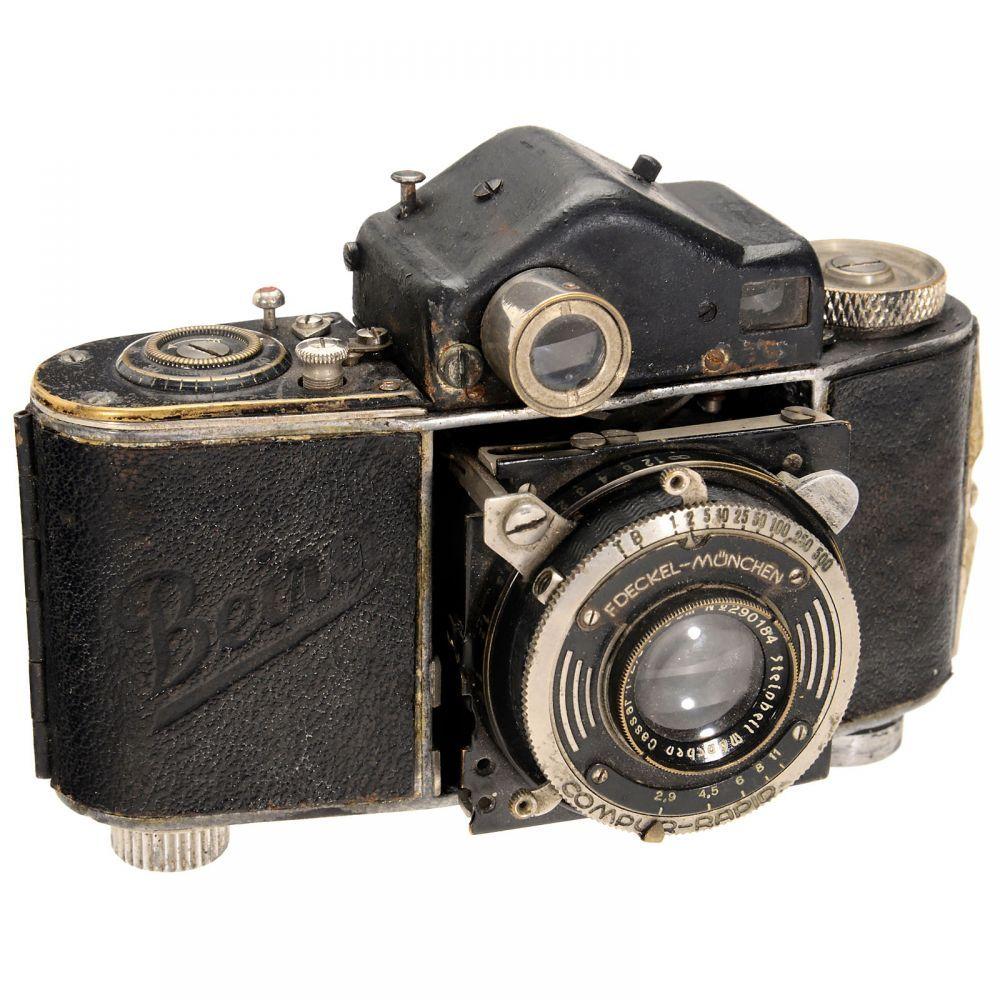 Beira II, 1937  Kamera-Fabrik Woldemar Beier, Freital. Second version with film rewind, unusual