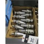 BT-40 Taper Balanced Collet Chucks and Tooling (10) (SOLD AS-IS - NO WARRANTY)