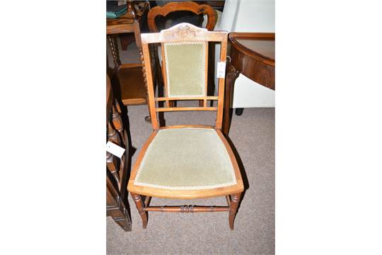 edwardian bedroom chairs. a pair of edwardian bedroom chairs, the serpentine cresting rails inlaid with central paterae mot chairs