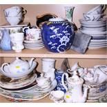 """A Royal Doulton character jug, """"Town Crier"""", a Royal Albert part teaset, Wedgwood jasperware and"""