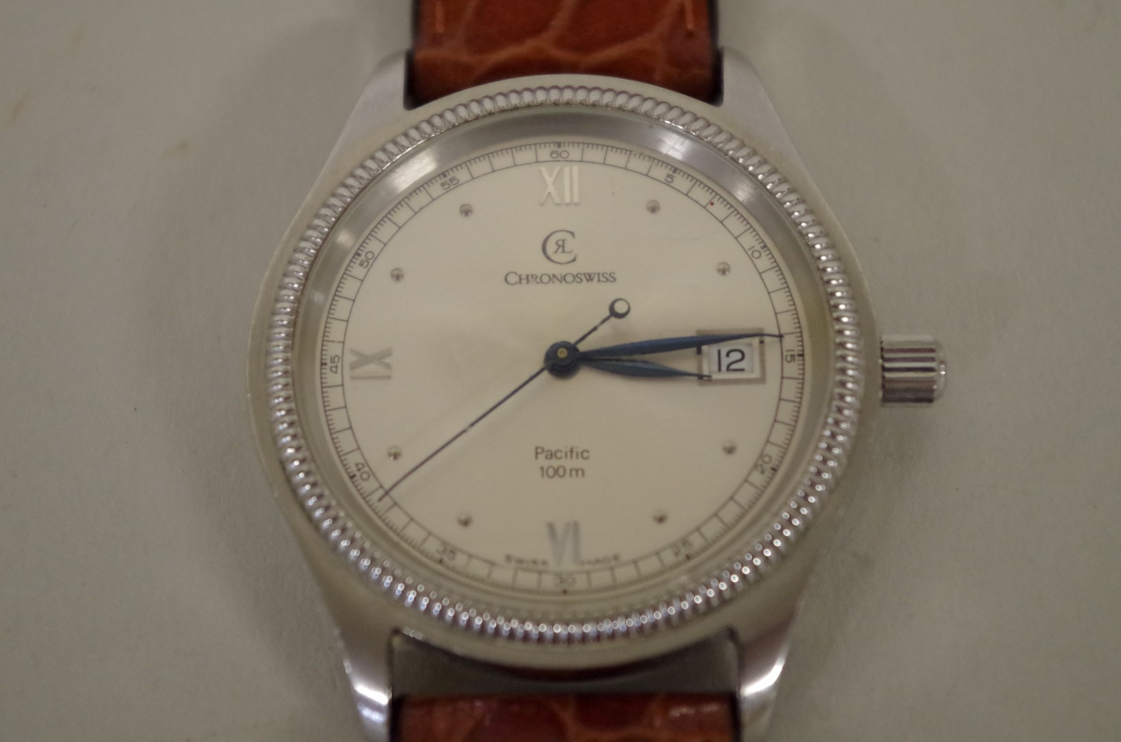 Lot 146 - A Chronoswiss Pacific automatic wristwatch, ref. CH2214, movement ETA 2892-2, on replacement leather