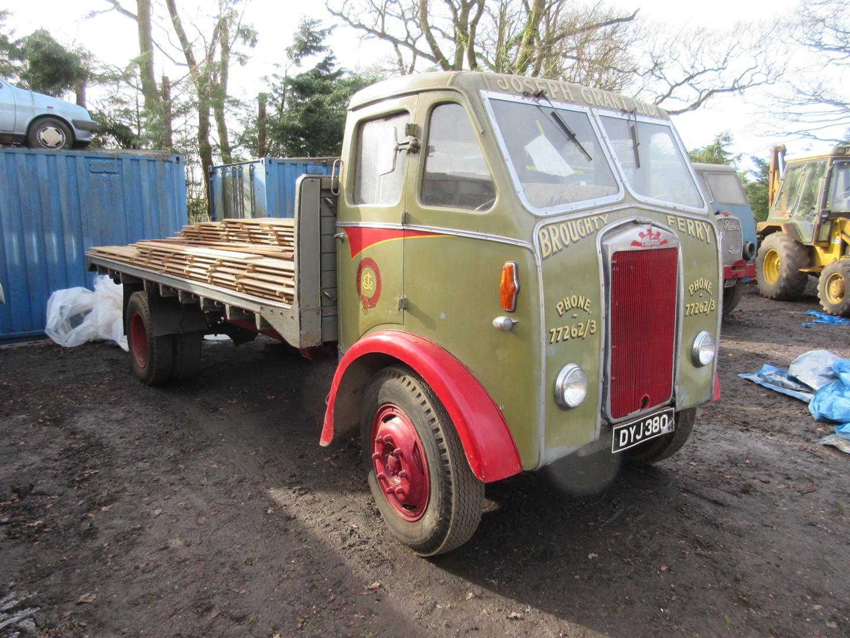 C.1950 Albion FT37 4 wheel diesel flatbed lorry Reg No: DYJ 380 ...