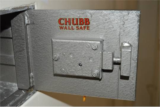 1 x Vintage Chubb Wall Safe - Buyer to Remove From Wall