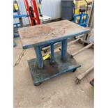 Hercules Metal Table on Casters, Max Capacity 2000 lb (Located in Oelwein, IA) (Rigging & Loading: $