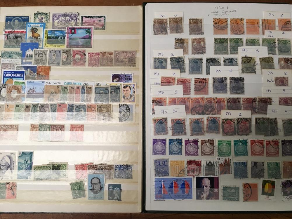 Lot 13 - BOX VARIOUS IN EIGHT VOLUMES, GB, GERMAN