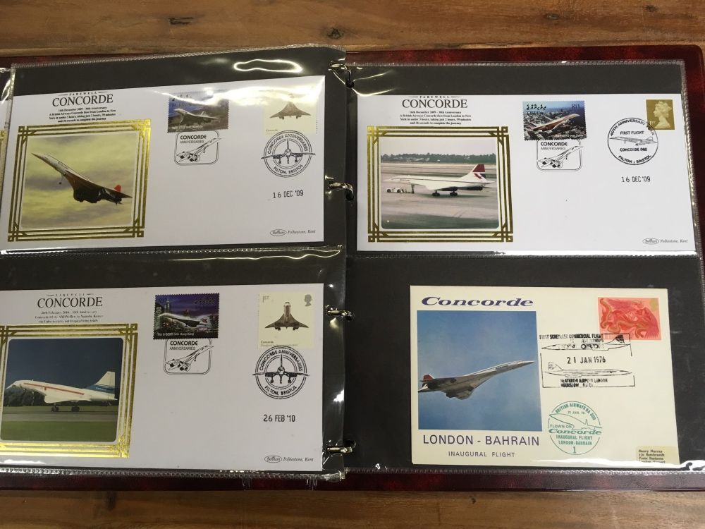 Lot 42 - ALBUM WITH A COLLECTION OF CONCORDE FLIG