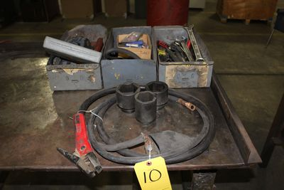 Lot 10 - ASST MECHANICS TOOLS, PNEUMATIC TOOLS, AIR CHISEL, DYE GRINDR, DRILL DOCTOR, TOOL DRILL SHARPENER (