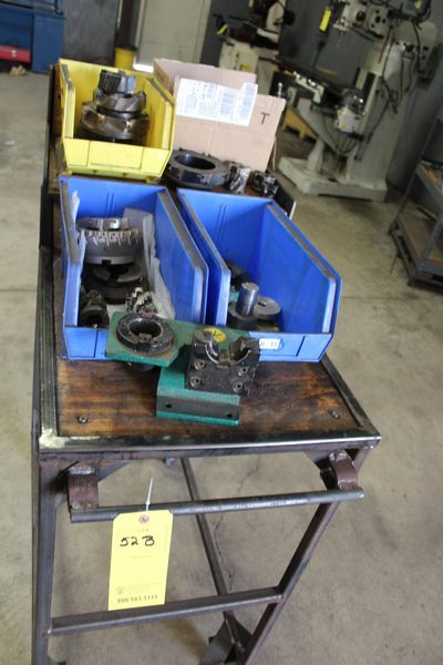 Lot 52B - RACK W/ MISC INDEX TABLE TOOLING (LOCATION 1: 1308 LE GILLILAND DR, TEXARKANA, AR 71854)