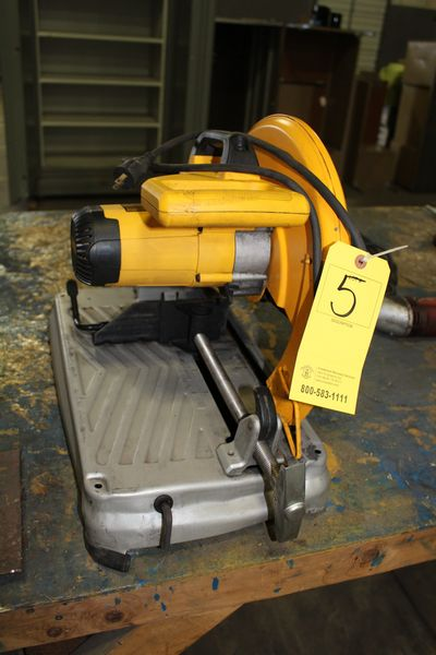 "Lot 5 - DEWALT 14"" ABRASIVE CHOP SAW (LOCATION 1: 1308 LE GILLILAND DR, TEXARKANA, AR 71854)"