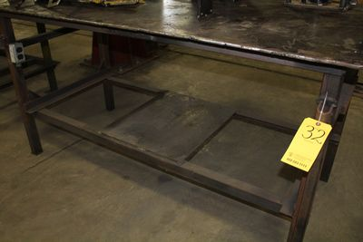"Lot 32 - HD METAL TABLE 3' X 6'  W/ 6"" VISE (LOCATION 1: 1308 LE GILLILAND DR, TEXARKANA, AR 71854)"