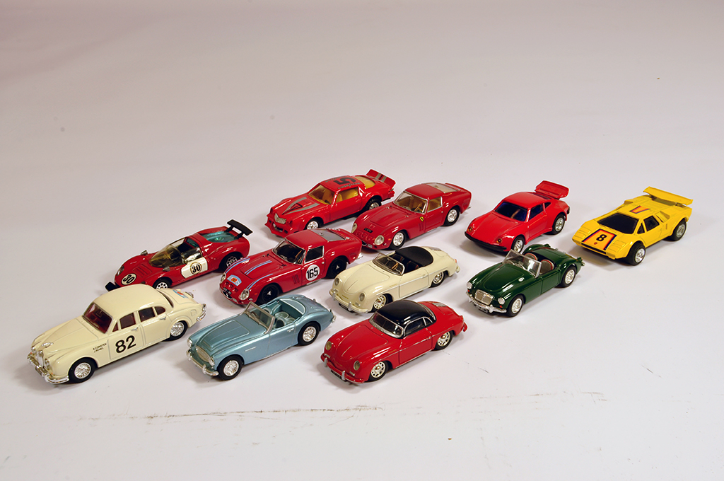 Lot 57 - Misc Selection of Diecast Cars including Corgi and other makers. Generally E to NM. (11)
