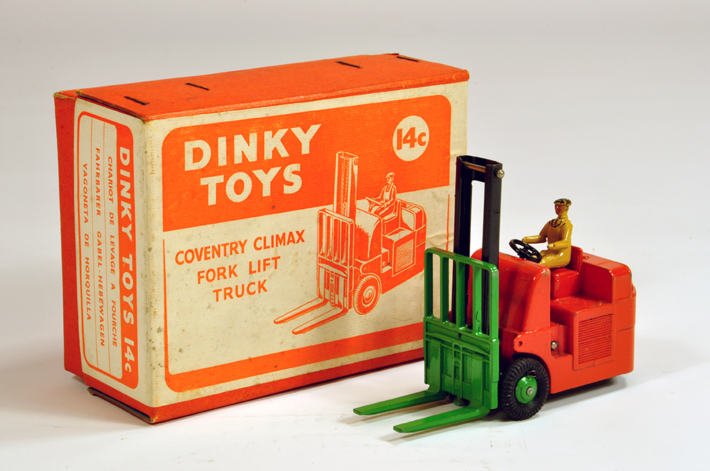 Lot 8 - Dinky No. 14C Coventry Climax Forklift Truck. E to NM in E Box.