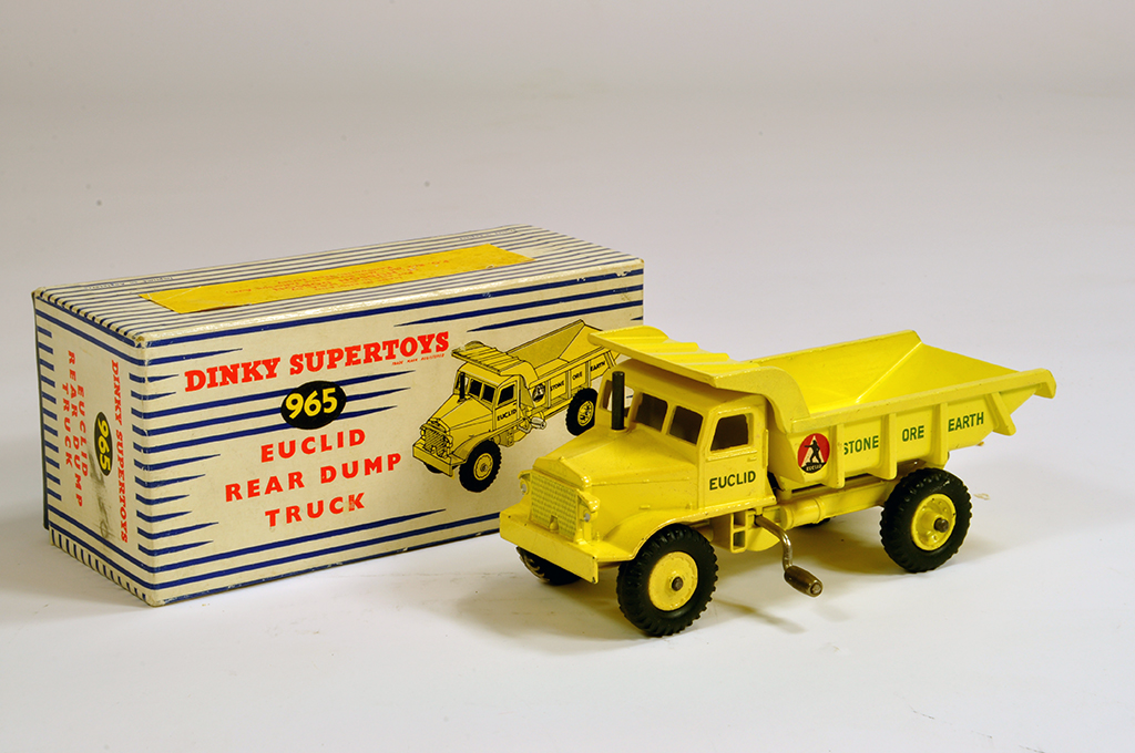 Lot 7 - Dinky No. 965 Euclid Rear Dump Truck. Bright example is NM in E Box.