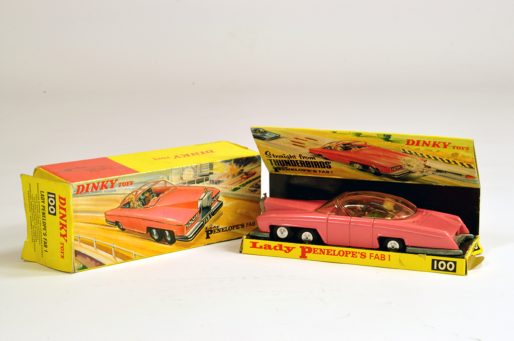 "Lot 24 - Dinky No. 100 ""Thunderbirds"" - Lady Penelope's FAB1. E to NM in G Box (inner tray is VG)."