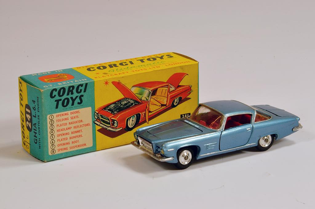 Lot 45 - Corgi No. 241 Ghia L6.4 in metallic blue. NM in E Box.