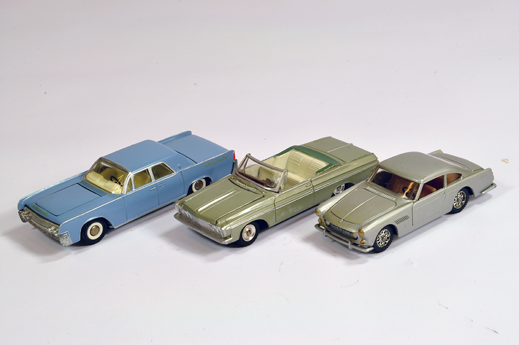 Lot 58 - Trio of Diecast Cars comprising Solido and Tekno issues. Generally VG to E. (3)