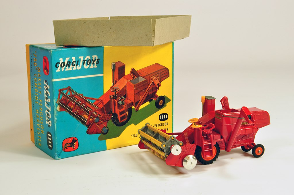 Lot 1 - Corgi No. 1111 Massey Ferguson 780 Combine Harvester. Metal Tines. Generally NM in VG to E Box (