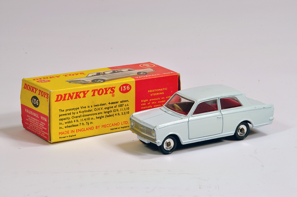 Lot 20 - Dinky No. 136 Vauxhall Viva in very pale grey. NM example in E Box.