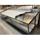 "Table de travail acier inox MKE - NEUVE # ECTCB 9630 - 96 x 30"""