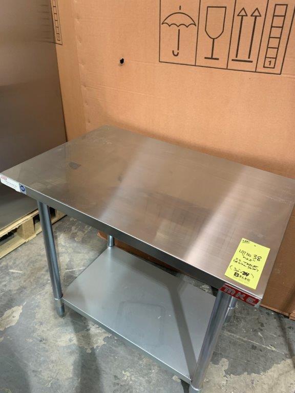 "Table de travail acier inox MKE - NEUVE # ECTC 3624 - 36 x 24"" - Image 2 of 2"