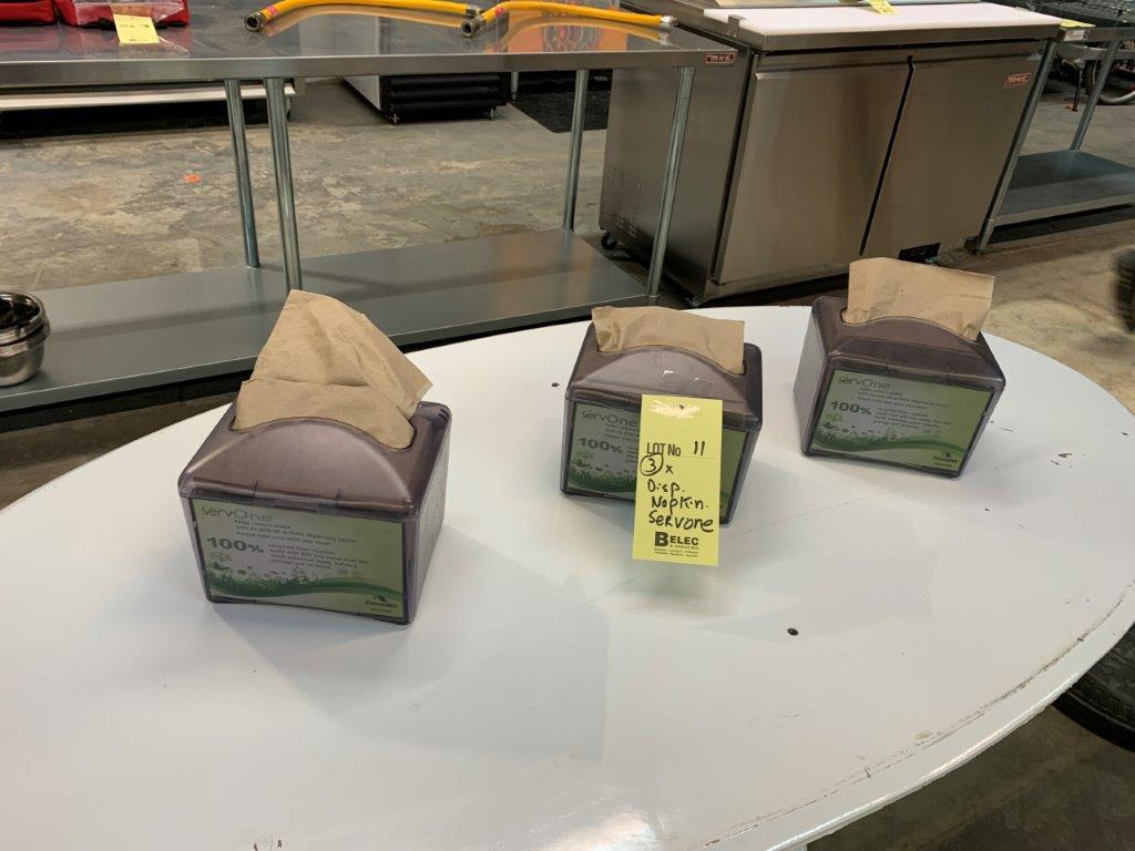 (3) Dispensateurs à napkins