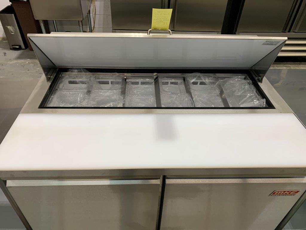 """Table de preparation réfrigérée - 2 portes # ST-48 - 48 x 30"""" - Image 2 of 5"""