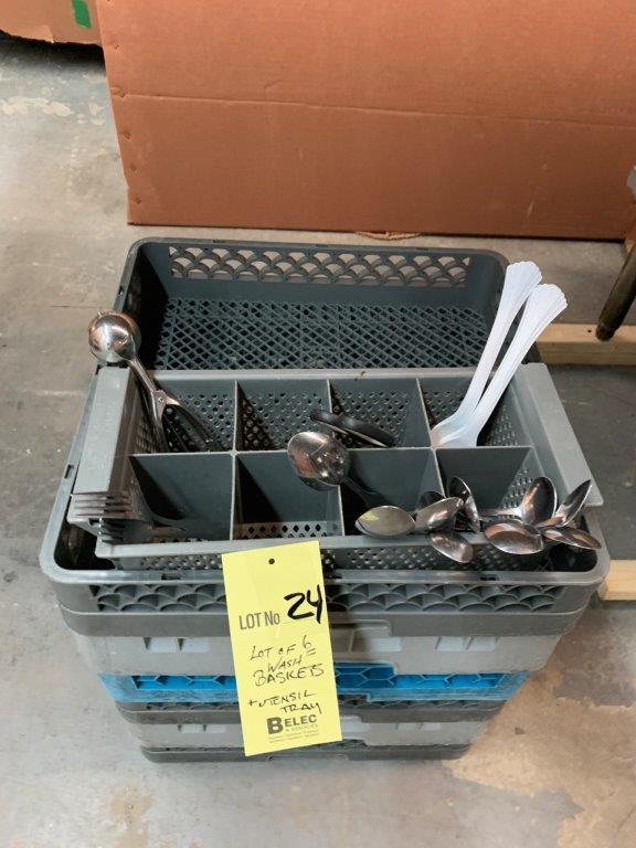 Lot de (6) paniers vaisselle - lave vaisselle + ustensiles et bac - Image 2 of 2