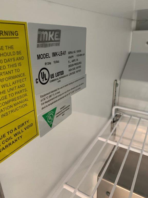 """Unité réfrigéré sous comptoir - 2 portes MKE - NEUF - # LB 61 , 61 x 30 """" - Image 3 of 3"""