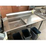 NEW Stainless Steel MKE Dish table, # TLC6030R, Right - 5' x 30''