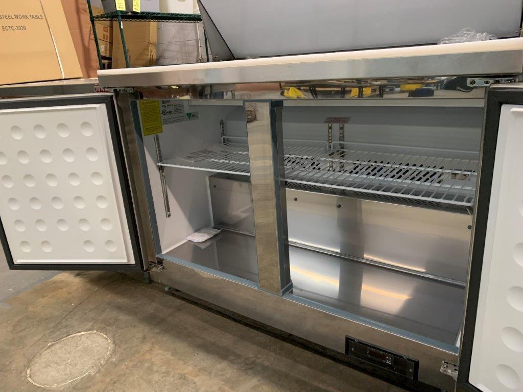 """Table de preparation réfrigérée - 2 portes # ST-48 - 48 x 30"""" - Image 3 of 5"""