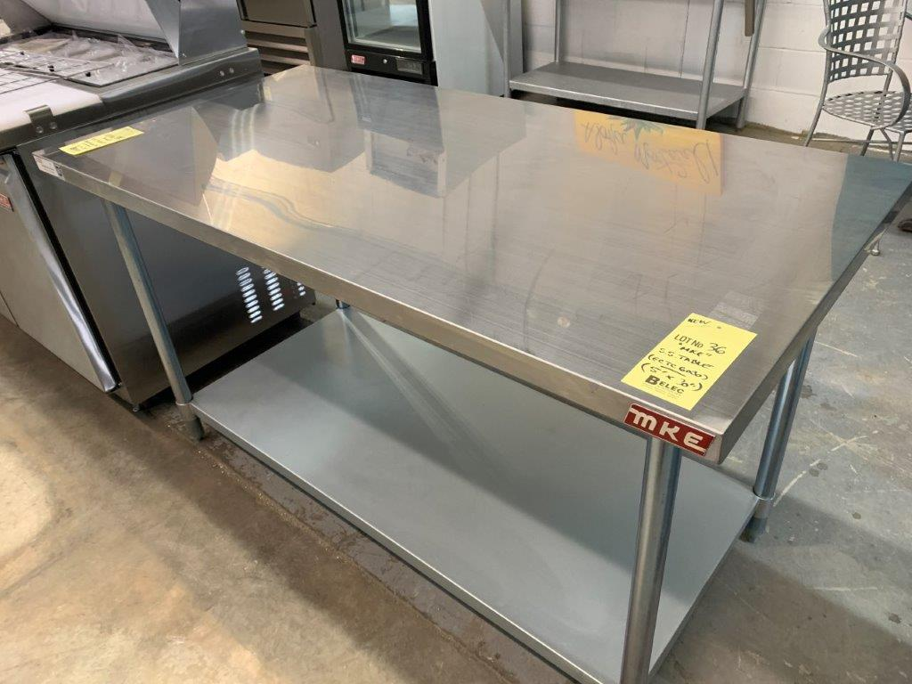 "Table de travail acier inox MKE - NEUVE # ECTC 6030 - 60 x 30"""