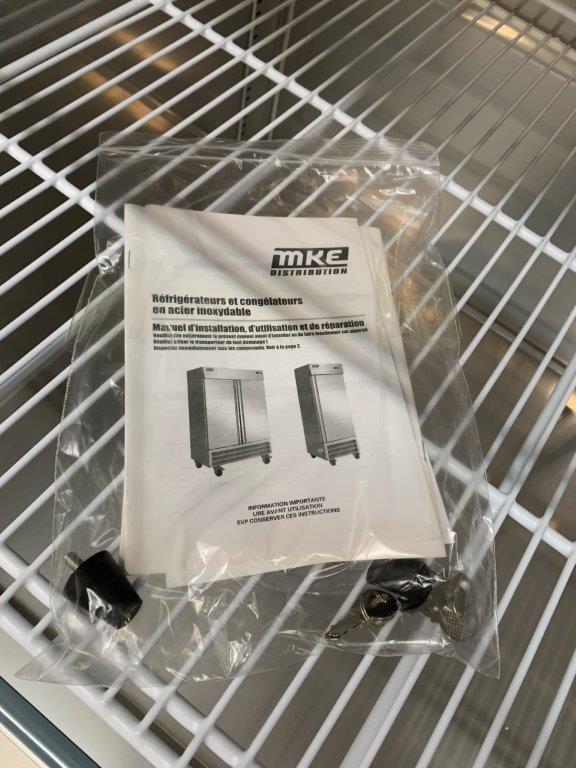 "Réfrigérateur MKE - NEUF - 2 portes # RI-49 SS - 54 X 33"" - Image 3 of 4"