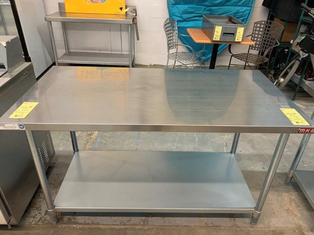 "Table de travail acier inox MKE - NEUVE # ECTC 6030 - 60 x 30"" - Image 2 of 2"
