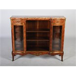An early 20th century Louis XV style kingwood, marquetry and ormolu mounted side cabinet, the Breche