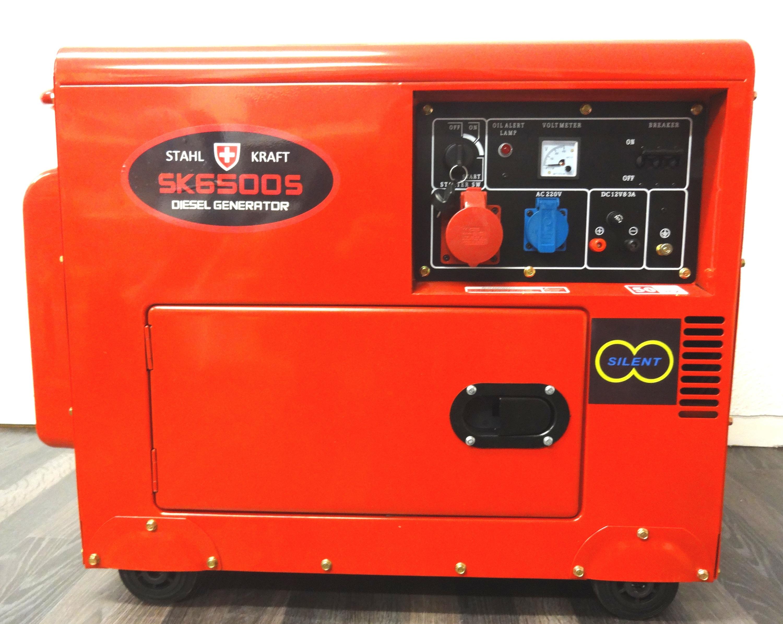 STAHL KRAFT DIESEL GENERATOR 220V 50Hz 3 PHASE 6 5 kVA SILENT