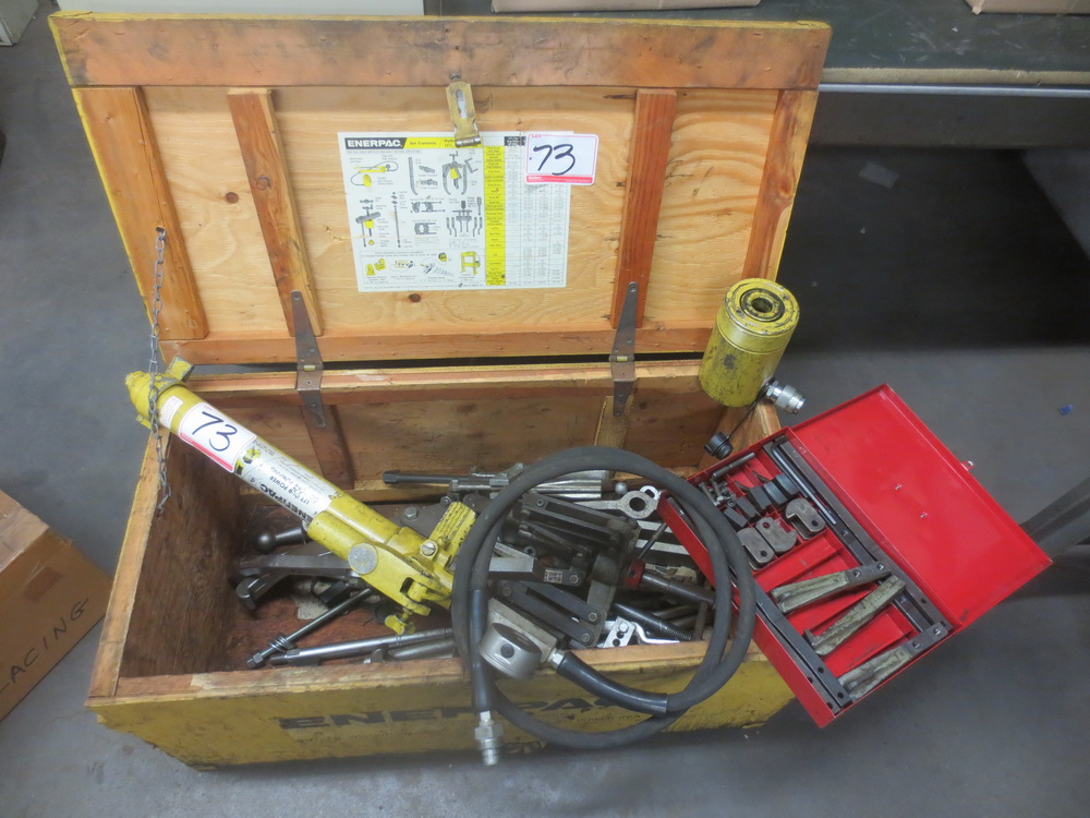 Enerpac Puller Catalog : Lot enerpac hydraulic jack w pullers jaws