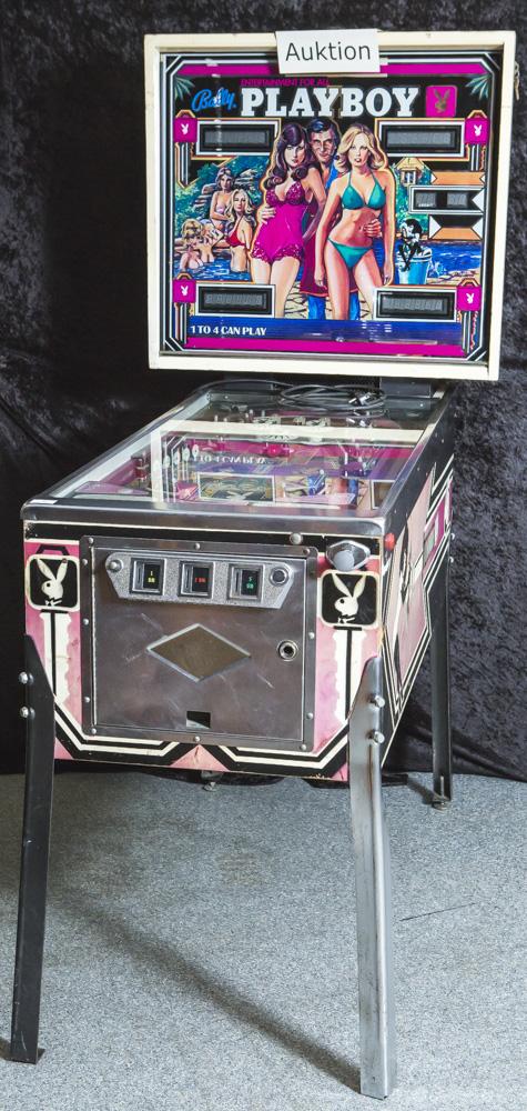 Flipper, Playboy Bally, 70er Jahre, Bally Corp. 1978, Auflage: 18250 Geräte, 2Flipperfinger, 3